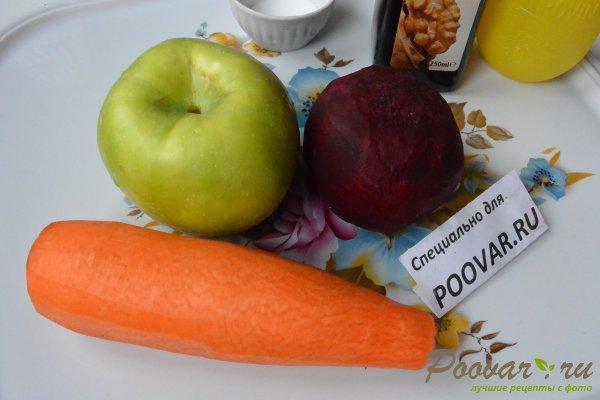 Салат из сырой свеклы, моркови и яблок Шаг 2 (картинка)