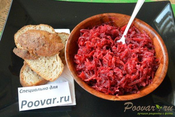 Салат из сырой свеклы, моркови и яблок Шаг 9 (картинка)