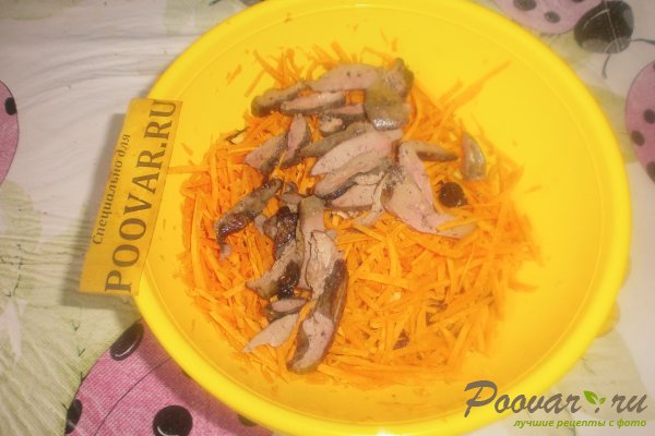 Салат из моркови с куриной печенью Шаг 11 (картинка)