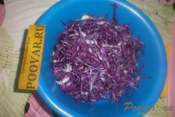 Салат из красной капусты с яблоками Шаг 3 (картинка)