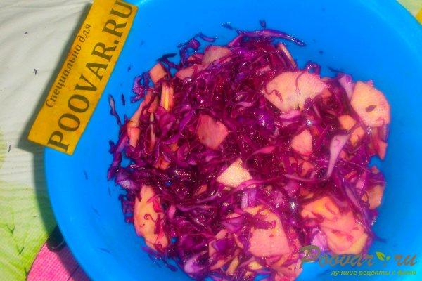 Салат из красной капусты с яблоками Шаг 12 (картинка)