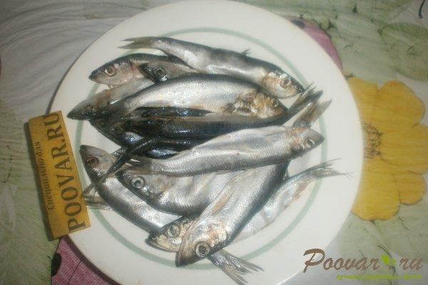 Жареная салака на сковороде Шаг 1 (картинка)