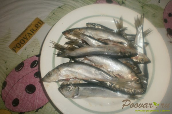 Жареная салака на сковороде Шаг 2 (картинка)
