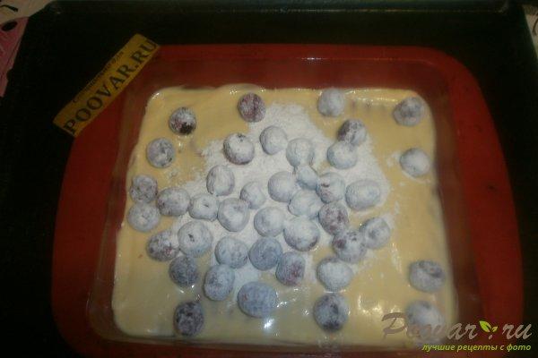 Заливной пирог с вишней и вареньем Шаг 10 (картинка)