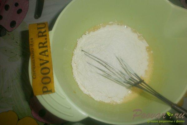 Заливной пирог с вишней и вареньем Шаг 5 (картинка)