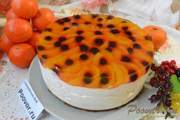 Творожный торт без выпечки с желатином Изображение