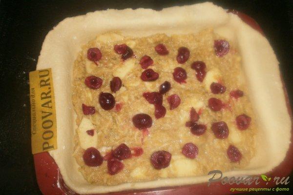 Яблочный пирог с вишней из творожного теста Шаг 13 (картинка)