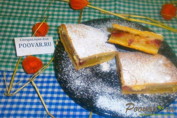 Яблочный пирог с вишней из творожного теста Шаг 18 (картинка)