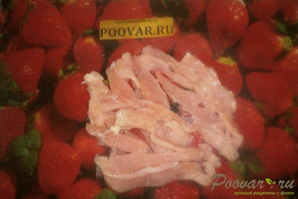 Лаваш с курицей и луком Шаг 2 (картинка)