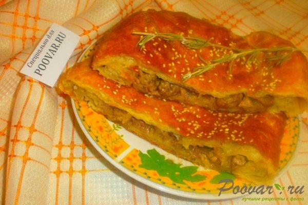 Мясной пирог из слоёного теста Шаг 14 (картинка)