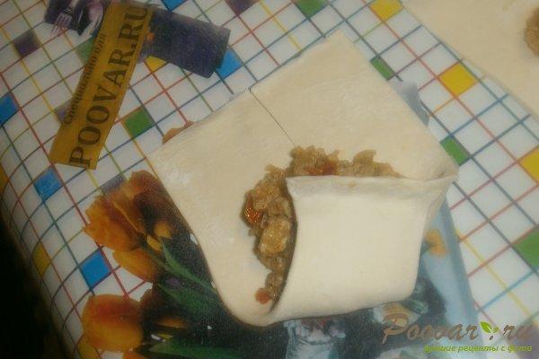 Слойки с мясной начинкой из слоёного теста Шаг 14 (картинка)