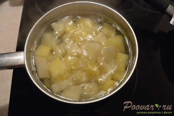 Рулетики из лаваша с картофелем и колбасой Шаг 1 (картинка)