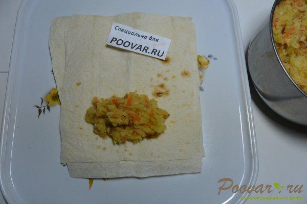 Рулетики из лаваша с картофелем и колбасой Шаг 11 (картинка)