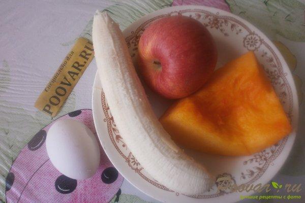 Яблочные оладьи с бананом и тыквой Шаг 1 (картинка)