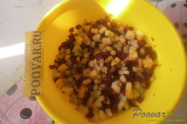 Картофельный салат со свёклой Шаг 7 (картинка)