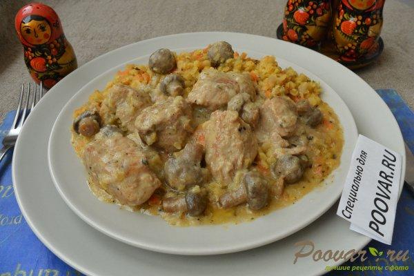 Свинина с грибами в сливочном соусе Шаг 10 (картинка)