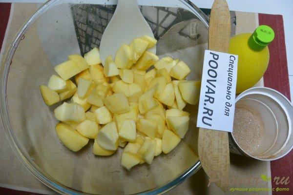 Манник с яблоками на сметане и мукой Шаг 8 (картинка)