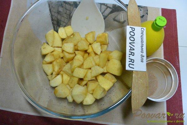 Манник с яблоками на сметане и мукой Шаг 9 (картинка)