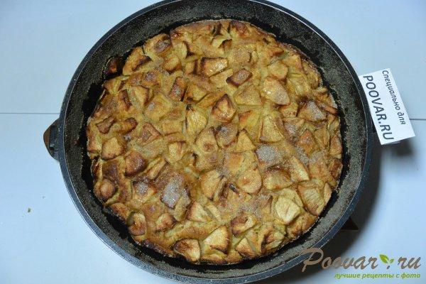 Манник с яблоками на сметане и мукой Шаг 16 (картинка)