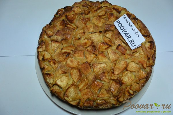 Манник с яблоками на сметане и мукой Шаг 17 (картинка)