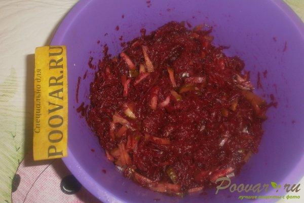 Салат из свёклы с огурцами Шаг 6 (картинка)