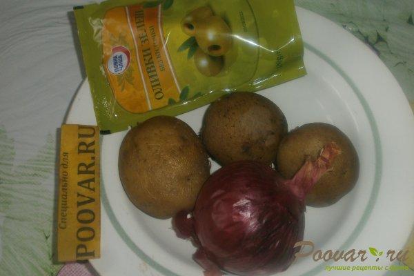 Салат из картофеля и оливок Шаг 1 (картинка)