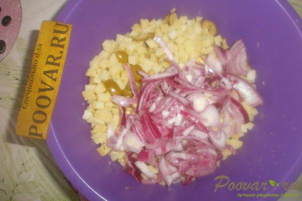 Салат из картофеля и оливок Шаг 9 (картинка)