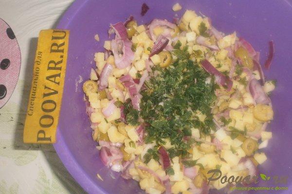 Салат из картофеля и оливок Шаг 13 (картинка)