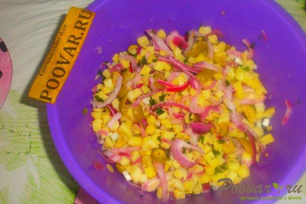 Салат из картофеля и оливок Шаг 14 (картинка)