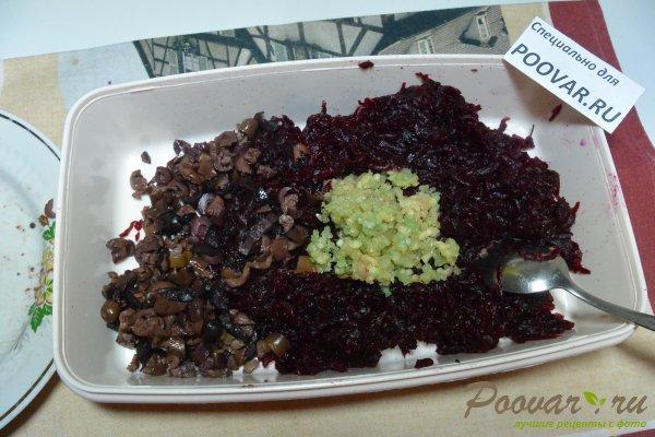 Салат из свеклы, оливок с майонезом Шаг 8 (картинка)
