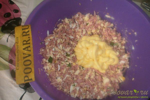 Тарталетки с сыром и колбасой Шаг 8 (картинка)