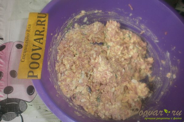 Тарталетки с сыром и колбасой Шаг 9 (картинка)