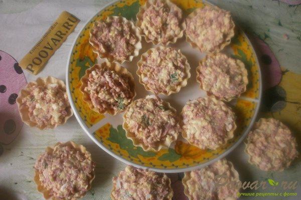 Тарталетки с сыром и колбасой Шаг 10 (картинка)