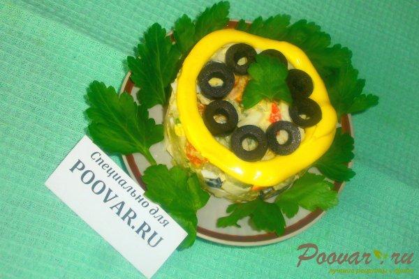 Овощной салат с крабовыми палочками и маслинами Шаг 14 (картинка)