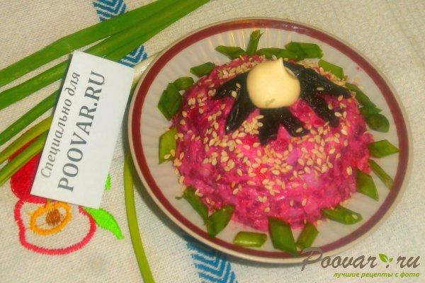 Свекольный салат с крабовыми палочками Шаг 13 (картинка)