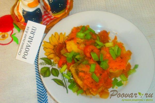 Хек тушёный с овощами Изображение