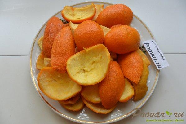 Цукаты из апельсиновых корок с мандаринами Шаг 1 (картинка)