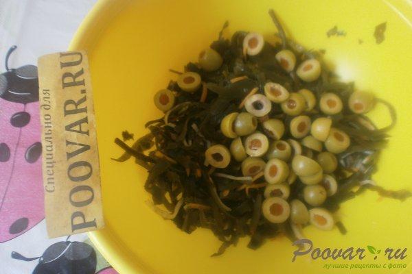 Салат из морской капусты с оливками Шаг 4 (картинка)