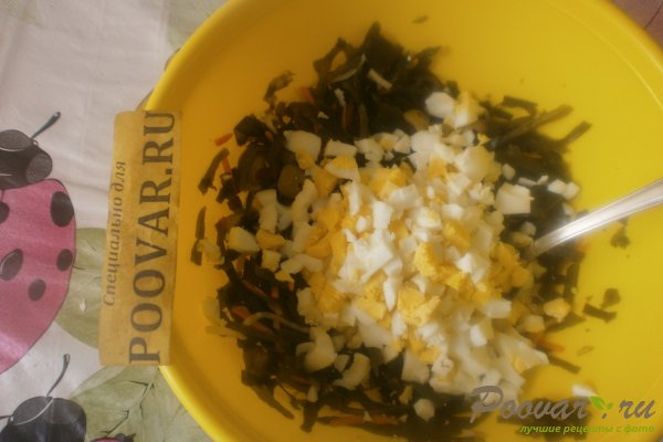 Салат из морской капусты с оливками Шаг 7 (картинка)