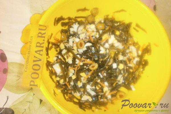 Салат из морской капусты с оливками Шаг 8 (картинка)