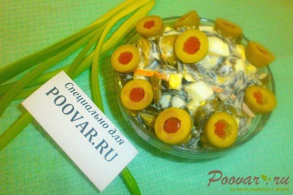 Салат из морской капусты с оливками Шаг 11 (картинка)