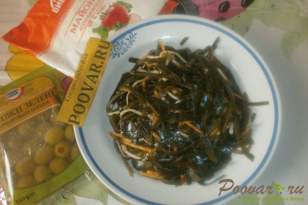 Салат из морской капусты с оливками Шаг 1 (картинка)