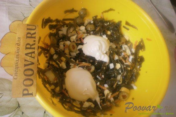 Салат из морской капусты с оливками Шаг 9 (картинка)