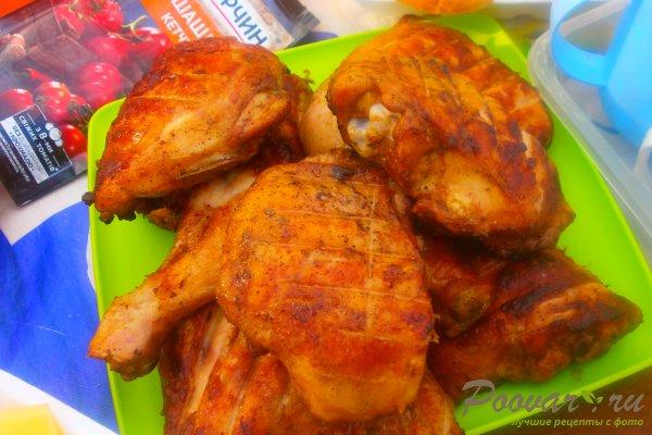 Маринованная курица на мангале Изображение