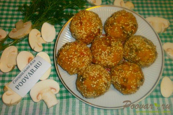 Куриные шарики с грибами и курагой Шаг 17 (картинка)