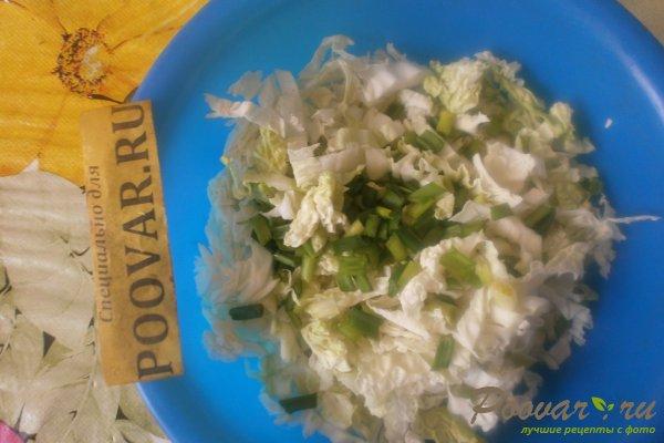 Салат из пекинской капусты с колбасками Шаг 4 (картинка)
