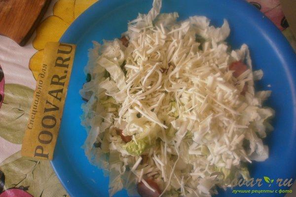 Салат из пекинской капусты с колбасками Шаг 8 (картинка)