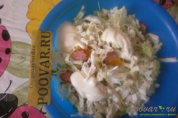 Салат из пекинской капусты с колбасками Шаг 11 (картинка)