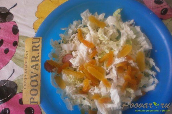 Салат из пекинской капусты с колбасками Шаг 10 (картинка)