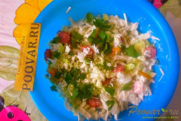 Салат из пекинской капусты с колбасками Шаг 12 (картинка)
